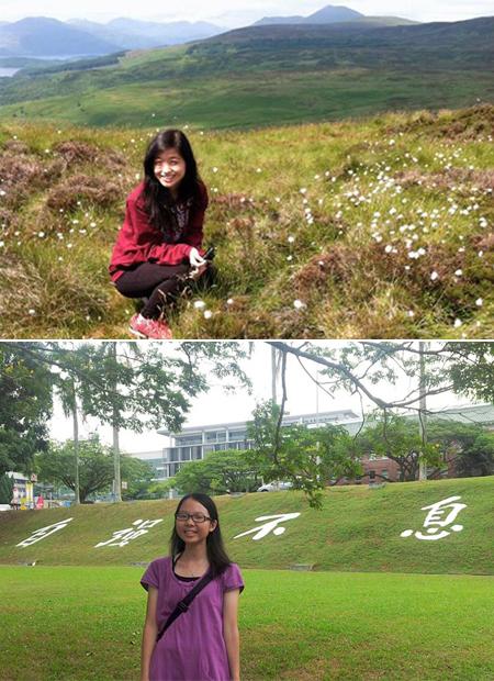 Chloe Lam (top) and Kitty Ma (bottom), first awardees of the Fr Alvaro Ribeiro Scholarship.